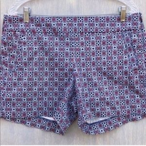 NWT Pink, White & Navy Print Shorts From J Crew